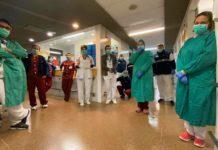 Personal sanitario del Hospital General de La Palma durante el confinamiento