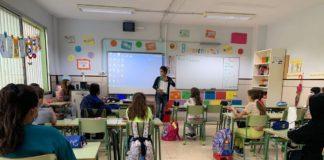 En la imagen, uno de los momentos del Taller de Igualdad y contra la Violencia de Género en uno de los colegios de Breña Alta